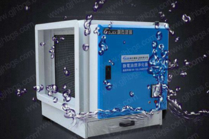 What is the meaning of electrostatic fume purifier IP55 waterproof and dustproof ?